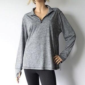 Ideology Active 1/4 Zip Long Sleeve T-Shirt NWT